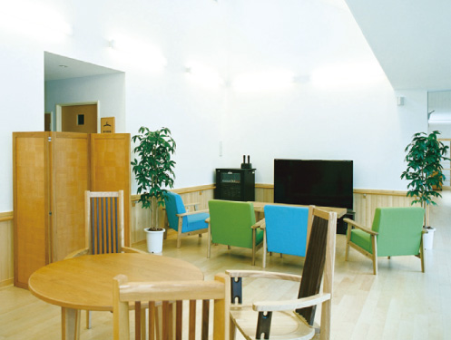 ホール 休憩や談話の出来るスペースです